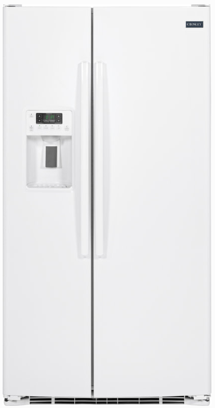 Crosley 25.3 Cu.Ft. Side-by-Side White Refrigerator XSS25GGHWW Ice & Water Thru-the-Door - America Best Appliances, LLC