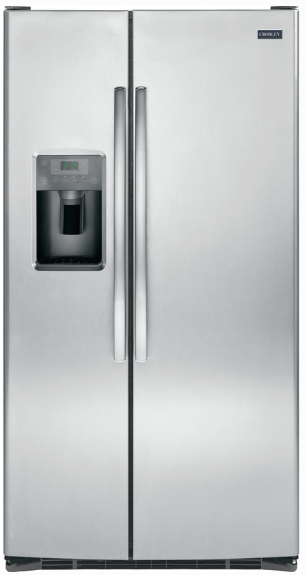 Crosley 25.3 Cu.Ft. Side-by-Side Stainless Steel Refrigerator XSS25GSHSS Ice & Water Thru-the-Door - America Best Appliances, LLC
