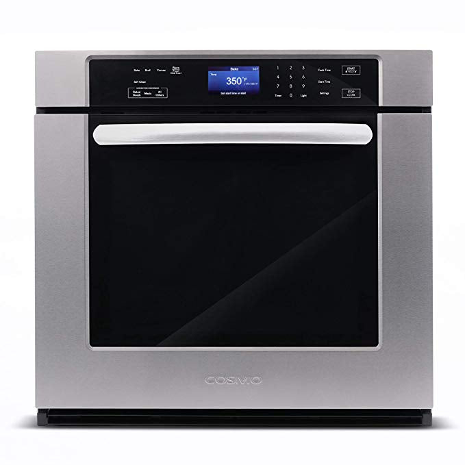 "Cosmo 30"" Single Wall Oven w/10 Functions  Self-Cleaning in Stainless Steel COS-30ESWC (30"") - America Best Appliances, LLC"