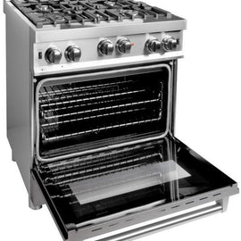 Professional Gas on Gas Range in Stainless Steel with Snow Stainless Door (RG-SN-30) ZLINE 30 in. - America Best Appliances, LLC