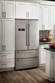 Thor 36 - Inch Stainless Steel 4-Door Counter-Depth French Door Refrigerator with Ice Maker - America Best Appliances, LLC
