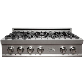 Porcelain Rangetop in Snow Stainless with 6 Gas Burners (RTS-36)  ZLINE 36 in. - America Best Appliances, LLC