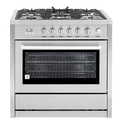 "Cosmo 36"" Single Oven Gas Range with 5 Burner Cooktop Stainless Steel COS-965AGC (36"") - America Best Appliances, LLC"