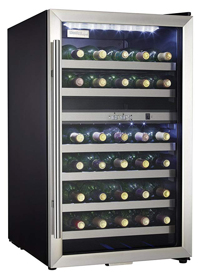 Danby DWC114BLSDD 20 in. 38-Bottle Wine Cooler with Two Temperature Zones - America Best Appliances, LLC