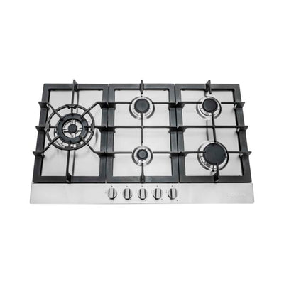"Cosmo Gas Cooktop in Stainless Steel with 5 Sealed Brass Burners  850SLTX-E (30"") - America Best Appliances, LLC"