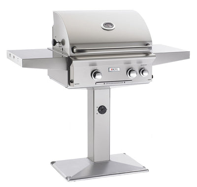 "24"" PATIO POST GRILL W/HALOGEN INTERIOR LIGHTS AOG24NPL  CG - America Best Appliances, LLC"