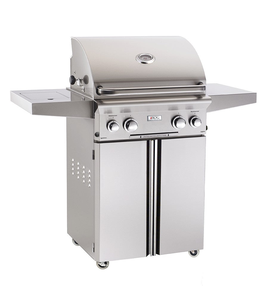 "24"" PORTABLE GRILL W/HALOGEN INTERIOR LIGHTS  AOG24PCL  CG - America Best Appliances, LLC"