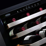 Cosmo  48-Bottle Stainless Steel 24 Single Zone Compressor Wine Cooler COS-24BIWCS - America Best Appliances, LLC
