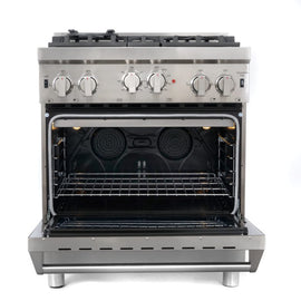 "Cosmo 30"" Gas Range  Stainless Steel COS-GRP304 (30"" w/ convection) - America Best Appliances, LLC"