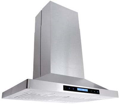 "Cosmo 30 in. Island Range Hood with LED Lighting in Stainless Steel COS-63ISS75 (30"") - America Best Appliances, LLC"