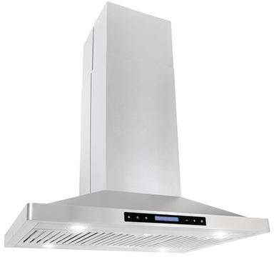 "Cosmo 36 in.  Island Range Hood with LED Lighting in Stainless Steel  COS-63ISS90 (36"") - America Best Appliances, LLC"