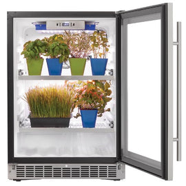 Danby Herb Grower Mini Fridge with 32-Watt LED BloomBoss Lighting DFG58D1BSS - America Best Appliances, LLC