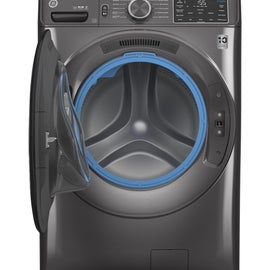 GE® 4.8 cu. ft. Capacity Smart Front Load ENERGY STAR® Washer with UltraFresh Vent System with OdorBlock™ and Sanitize w/Oxi  GFW550SPNDG - America Best Appliances, LLC