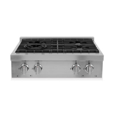 "Cosmo Gas Cooktop with 4 Burners in Stainless Steel  COS-GRT304 (30"") - America Best Appliances, LLC"