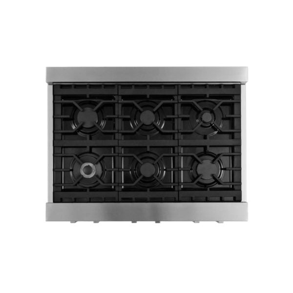 "Cosmo  Gas Cooktop in Stainless Steel with 6 Burners  COS-GRT366 (36"") - America Best Appliances, LLC"