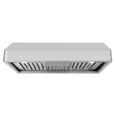 "Cosmo 36 in. Ducted Under Cabinet Range Hood in Stainless Steel with Push Button Controls COS-QB90 (36"") - America Best Appliances, LLC"