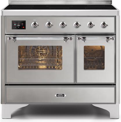 "Majestic II Series Induction Range with 6 Elements   Dual Ovens   TFT Control Display   Triple Glass Cool Oven Door  Bronze Trim   in Custom RAL Color""UMDI10NS3SSC 40 - America Best Appliances, LLC"