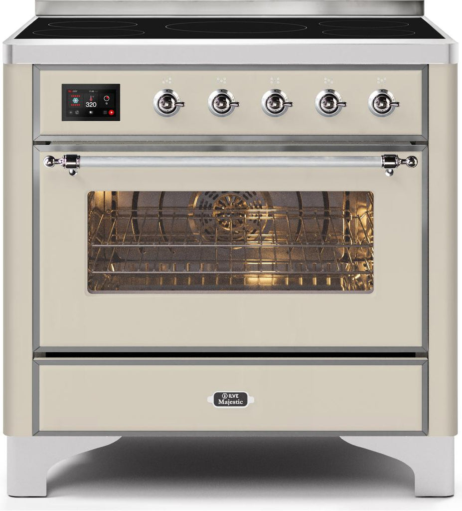 "Majestic II Series Induction Range with 6 Elements   Dual Ovens   TFT Control Display  Triple Glass Cool Oven Door   Bronze Trim  in Custom RAL Color""UM109NS3AWC 36 - America Best Appliances, LLC"