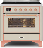 "Majestic II Series Induction Range with 6 Elements  Dual Ovens   TFT Control Display  Triple Glass Cool Oven Door   Bronze Trim   in Custom RAL Color""UM109NS3AWP 36 - America Best Appliances, LLC"