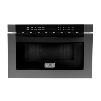 "Microwave Drawer in Black Stainless Steel ZLINE 24"" - America Best Appliances, LLC"
