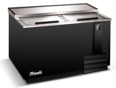 "Migali C-HBC50-HC Competitor Series Black 2 Solid Slide Lid Horizontal Bottle Cooler w/R290 50"" - 13 cu. ft. - America Best Appliances, LLC"