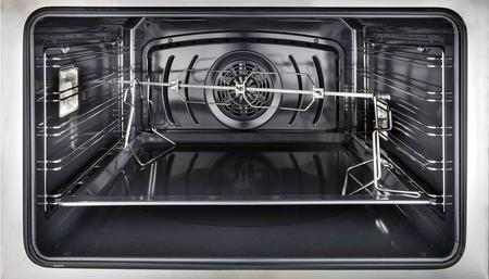"Majestic II Series Dual Fuel Range with 6 Burners  3.55 cu. ft. Oven Capacity   Copper Trim   in Glossy Black""UM096DNS3BKPLP 36 - America Best Appliances, LLC"