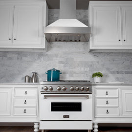 Snow Finish Range Hood with White Matte Shell (8654WM-30)  30""