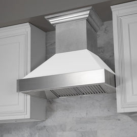 Snow Finish Range Hood with White Matte Shell (8654WM-48)  48""