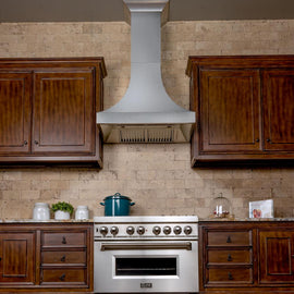 "Designer Series Snow Stainless Finish Wall Range Hood (8632S-48)  ZLINE 48"" - America Best Appliances, LLC"