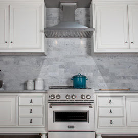 Designer Series Snow Finished Stainless Steel Wall Mount Range Hood (8KBS-30)  ZLINE 30 in. - America Best Appliances, LLC