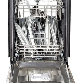 Top Control Dishwasher in Stainless Steel with Stainless Steel Tub and Traditional Style Handle DW-304-H-18   ZLINE  18 in. - America Best Appliances, LLC
