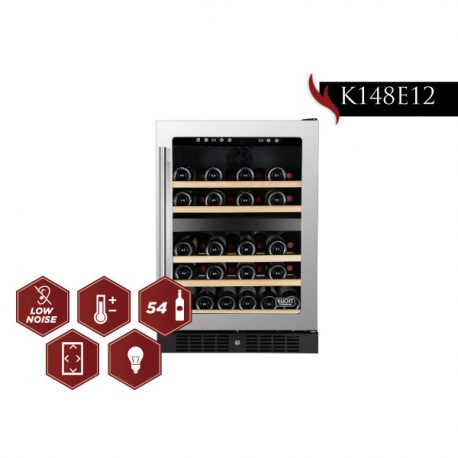 Kucht 24 Inch Professional  Built-In 54-Bottle Dual Zone Wine Cooler  K148E12 - America Best Appliances, LLC