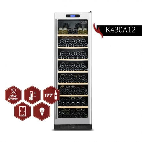 Kucht 24  inch Professional 177-Bottle Dual Zone Wine Cooler  K430A12 - America Best Appliances, LLC