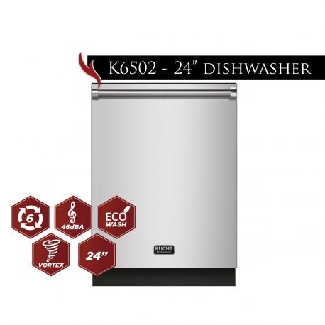 "Kucht 24"" Top control dishwasher Stainless Stell K6502D - America Best Appliances, LLC"