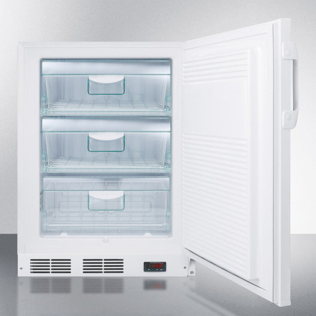 "Accucold 24"" Wide Built-In All-Freezer, ADA Compliant - America Best Appliances, LLC"