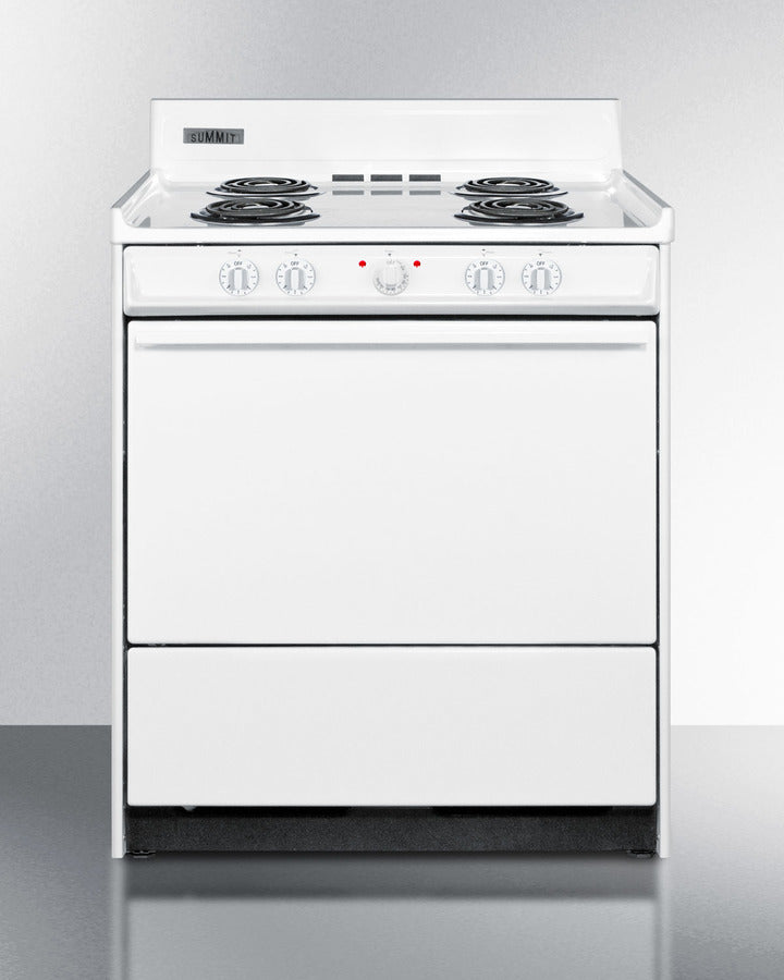 "Summit 30"" Wide Electric Coil Top Range - America Best Appliances, LLC"