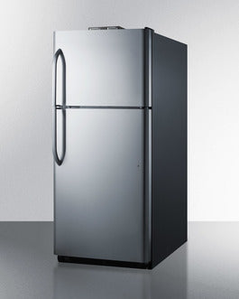 Summit Top-Mount-Refrigerator BKRF21SS sized to fit in space-challenged kitchens - America Best Appliances, LLC