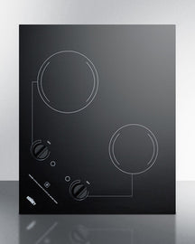 Summit 22 Inch Electric  Cooktop with 2 burners CR2B223G - America Best Appliances, LLC