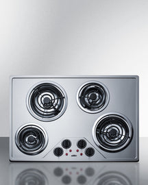 Summit 30 Inch Electric Coil Cooktop CR430SS - America Best Appliances, LLC