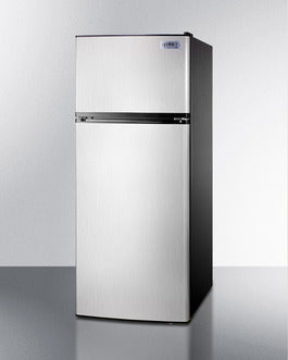 Summit Top-Mount-Refrigerator FF1159SSIM sized to fit in space-challenged kitchens - America Best Appliances, LLC