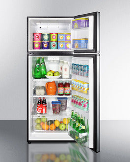 Summit Top-Mount-Refrigerator BKRF1159SS sized to fit in space-challenged kitchens - America Best Appliances, LLC