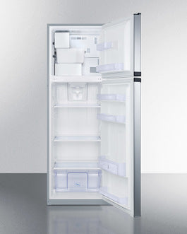 Summit Top-Mount-Refrigerator FF948SSIM sized to fit in space-challenged kitchens - America Best Appliances, LLC