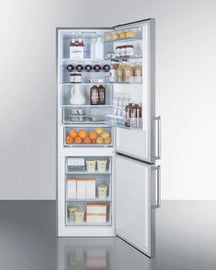 Summit Bottom-Mount-Refrigerator FFBF192SS sized to fit in space-challenged kitchens - America Best Appliances, LLC