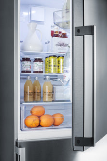 Summit Bottom-Mount-Refrigerator FFBF247SSIM sized to fit in space-challenged kitchens - America Best Appliances, LLC