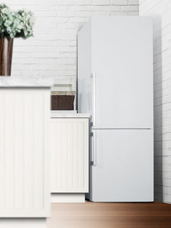 Summit Bottom-Mount-Refrigerator FFBF281W sized to fit in space-challenged kitchens - America Best Appliances, LLC
