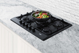 Summit 27 in. Gas Cooktop in Black with 5 Burners including Power Burner GC5272B - America Best Appliances, LLC