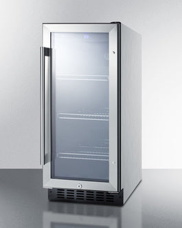 Summit Mini Fridges SCR1536BGCSS sized to fit in space-challenged kitchens - America Best Appliances, LLC