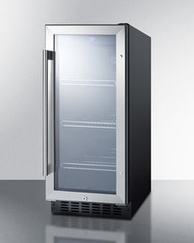 Summit Mini Fridge 15 in. 2.45 cu. ft. Mini Fridge with Glass Door in Black SCR1536BG - America Best Appliances, LLC