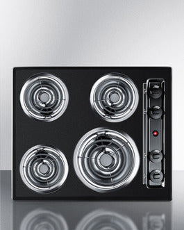Summit Kitchen Electric Cooktop in  Black TEL03 - America Best Appliances, LLC