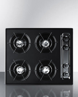 Summit 12 in. Gas-on-Glass Cooktop in Black with 2 Burners TNL033 - America Best Appliances, LLC